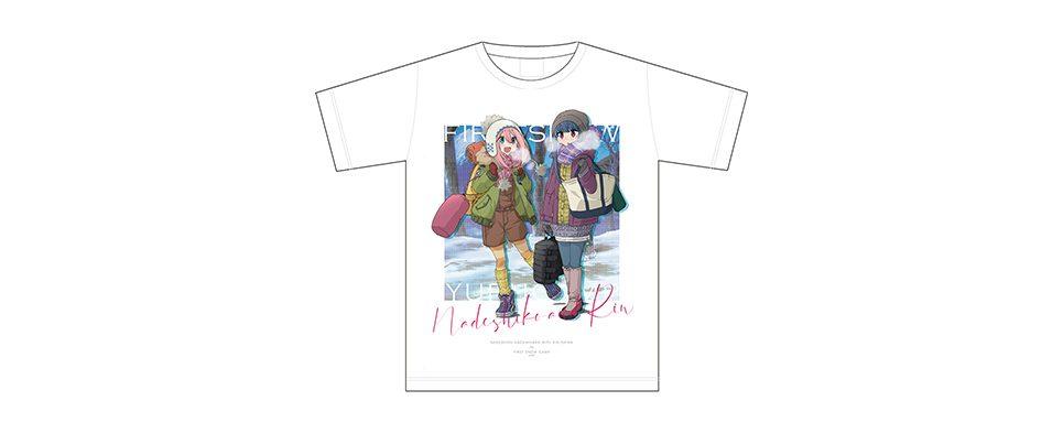 ゆるキャン△ 初雪キャンプ グラフィックTシャツ