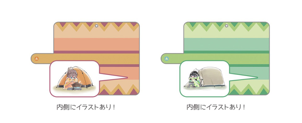 ゆるキャン△ 手帳型スマホケース 汎用Lサイズ(なでしこ、リン/ブランケット柄)