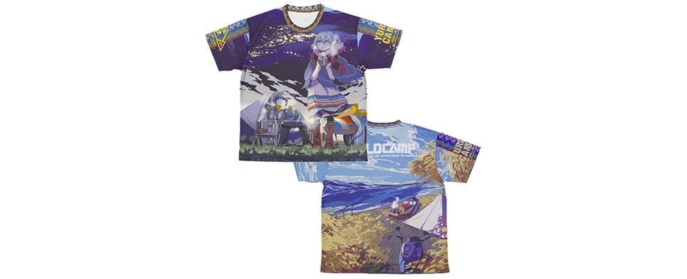 ゆるキャン△ 両面フルグラフィックTシャツ