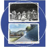 秘密結社ブランケット音楽祭・開催記念西島手漉き和紙ポストカードセット