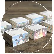 和紙のボックスメモ